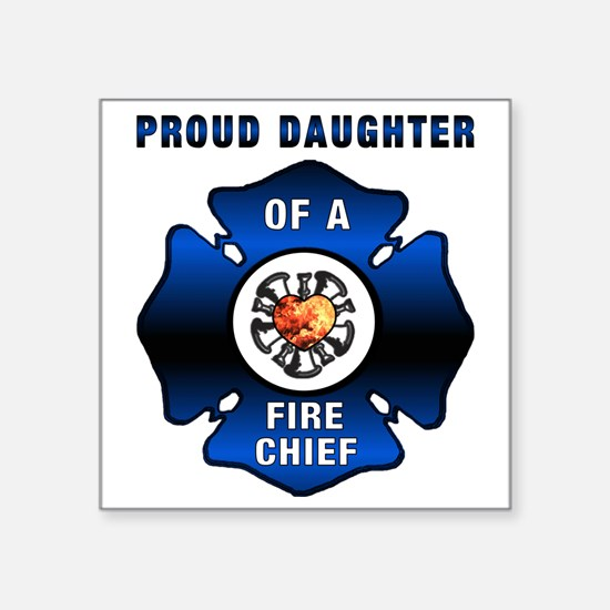 "proudDAUGHTER redone Square Sticker 3"" x 3"""