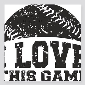 "love_this_game Square Car Magnet 3"" x 3"""
