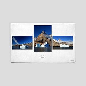 Iceberg blues 3'x5' Area Rug