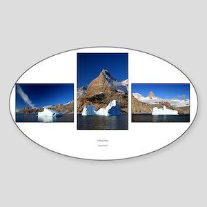 Iceberg blues Sticker (Oval)