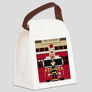 Fireman Pad19 Canvas Lunch Bag