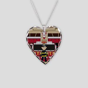 Fireman Pad19 Necklace Heart Charm