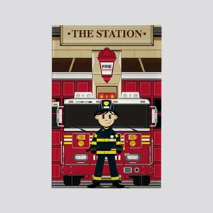 Fireman Pad19 Rectangle Magnet