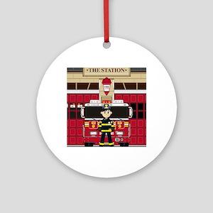 Fireman Pad19 Round Ornament
