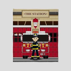 Fireman Pad19 Throw Blanket