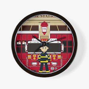 Fireman Pad19 Wall Clock