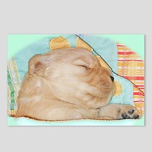 Golden Retriever Laptop S Postcards (Package of 8)