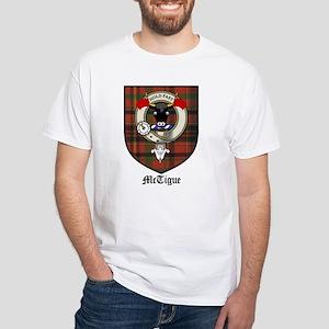 McTigue Clan Crest Tartan White T-Shirt
