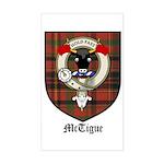 McTigue Clan Crest Tartan Rectangle Sticker