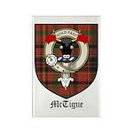 McTigue Clan Crest Tartan Rectangle Magnet (10 pac