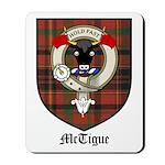 McTigue Clan Crest Tartan Mousepad
