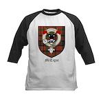 McTigue Clan Crest Tartan Kids Baseball Jersey