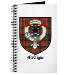 McTigue Clan Crest Tartan Journal