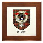 McTigue Clan Crest Tartan Framed Tile