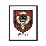 McTigue Clan Crest Tartan Framed Panel Print