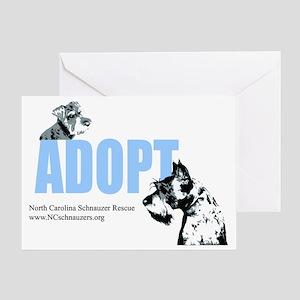 NCSR-adoptT-Large-bluecopy Greeting Card