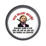Vote Hillary Because Wall Clock