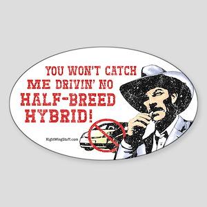 Half-Breed Hybrid Oval Sticker