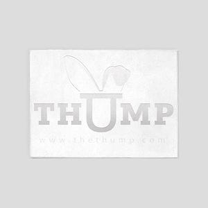 thump_logo_white_blank_web 5'x7'Area Rug