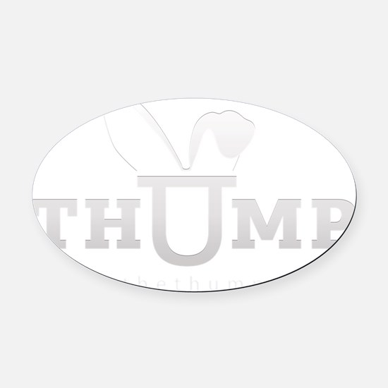 thump_logo_white_blank_web Oval Car Magnet