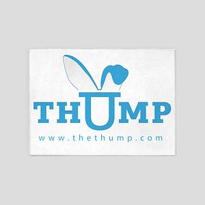 thump_logo_blue_web 5'x7'Area Rug
