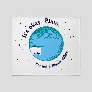 pluto long Throw Blanket
