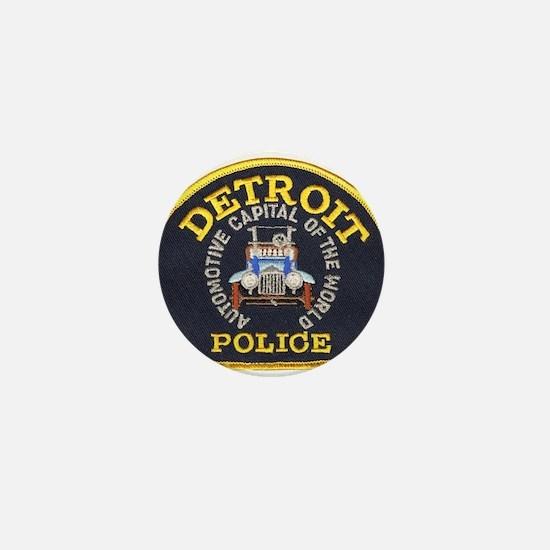 Detroit Police Mini Button