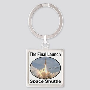 space_shuttle_the_final_launch8Jul Square Keychain