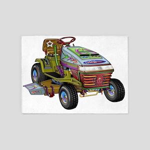 Designer Riding Mower 5'x7'Area Rug