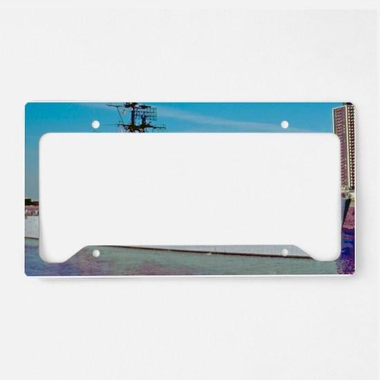 davis framed panel print License Plate Holder