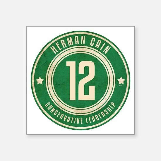 "july11_herman_logo Square Sticker 3"" x 3"""