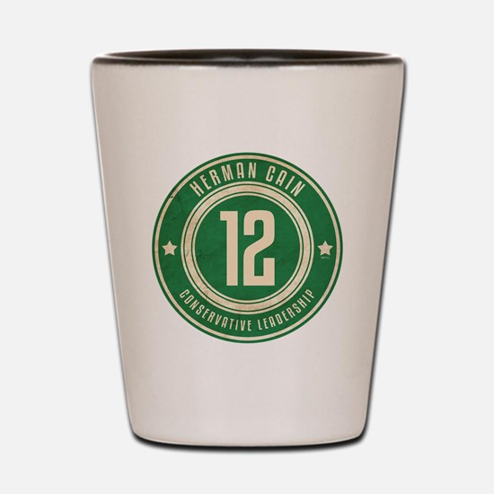 july11_herman_logo Shot Glass