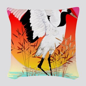 460_ipad_caseRed Crowned Crane Woven Throw Pillow