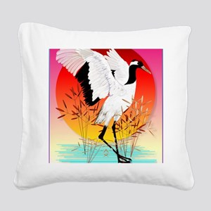 460_ipad_caseRed Crowned Cran Square Canvas Pillow