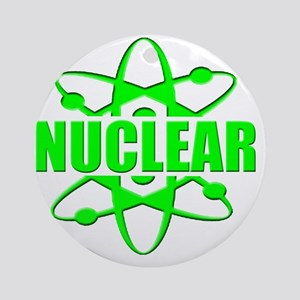 funny nuclear radiation atomic Round Ornament