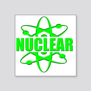 "funny nuclear radiation ato Square Sticker 3"" x 3"""