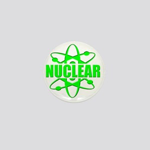 funny nuclear radiation atomic Mini Button
