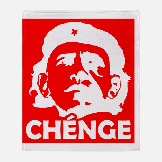 Che-Bama NEGATIVE RED Throw Blanket