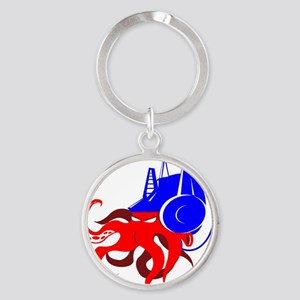 HIWAY7 OCTOMUS PRIME-large Round Keychain