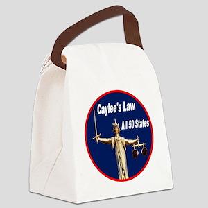 Caylees_law_RWB_transparent Canvas Lunch Bag