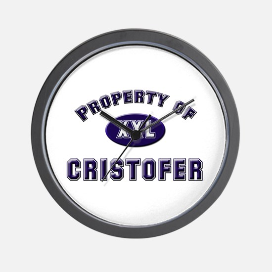 Property of cristofer Wall Clock