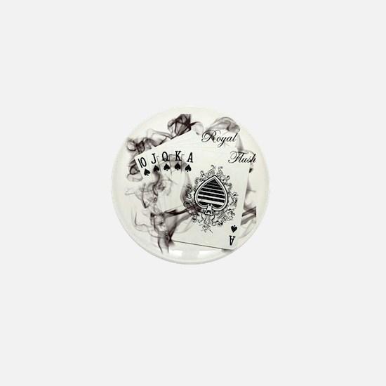 SmokinRoyalFlush Mini Button