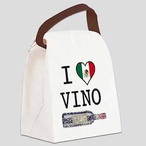 I-LOVE-VINO Canvas Lunch Bag