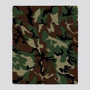camo-green_ff Throw Blanket
