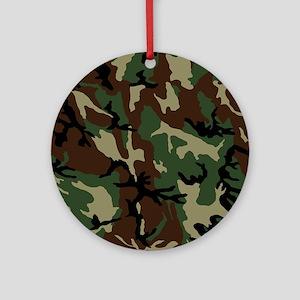 camo-green_ff Round Ornament