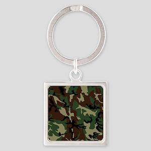 camo-green_ff Square Keychain
