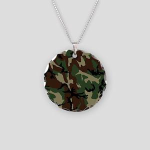 camo-green_ff Necklace Circle Charm