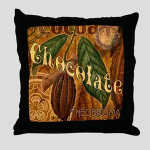chocolate-collage_ff Throw Pillow