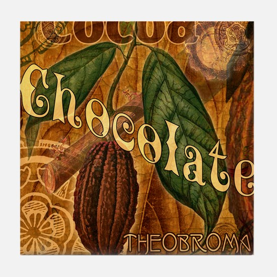 chocolate-collage_ff Tile Coaster