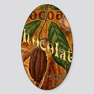 chocolate-collage_ff Sticker (Oval)
